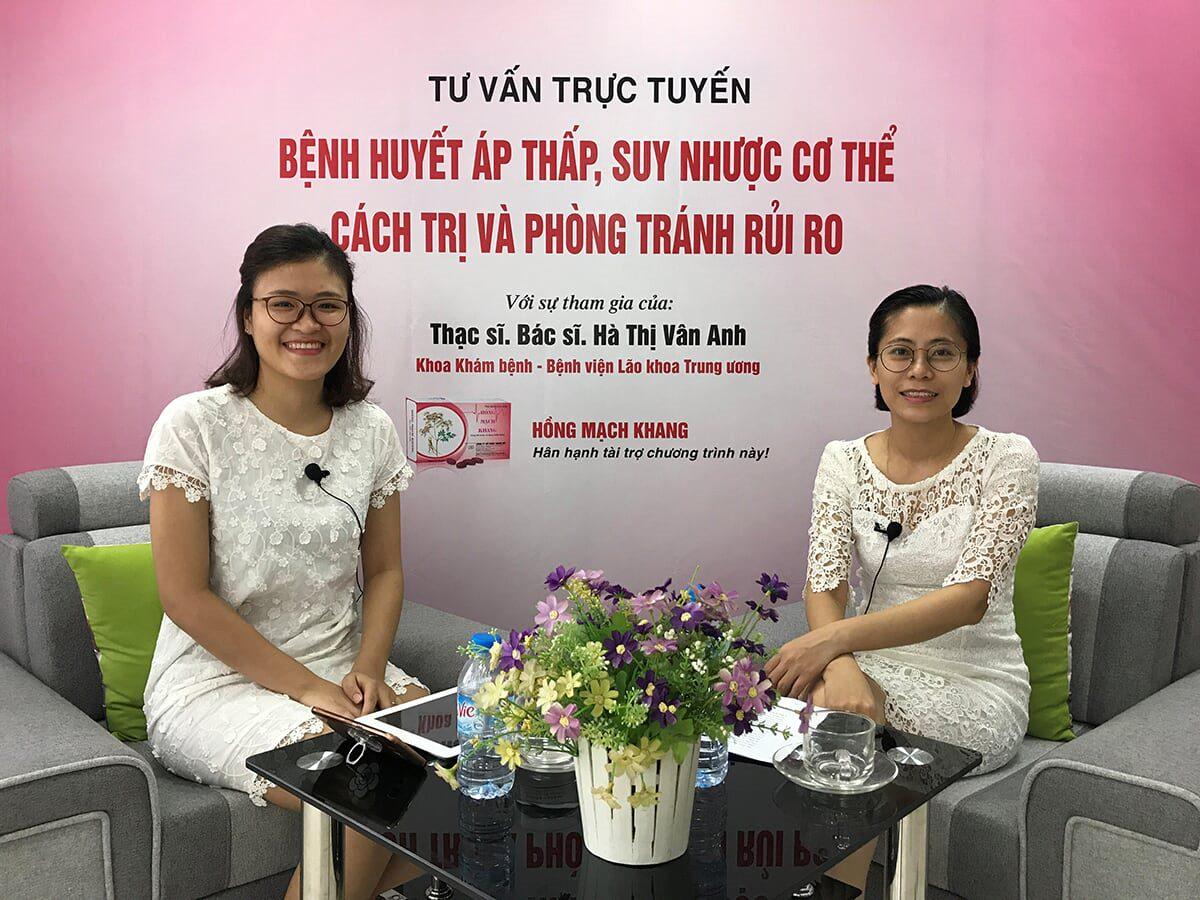 ThS.Bs Hà Thị Vân Anh tư vấn bệnh huyết áp thấp